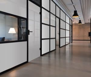 smartglass office partition on