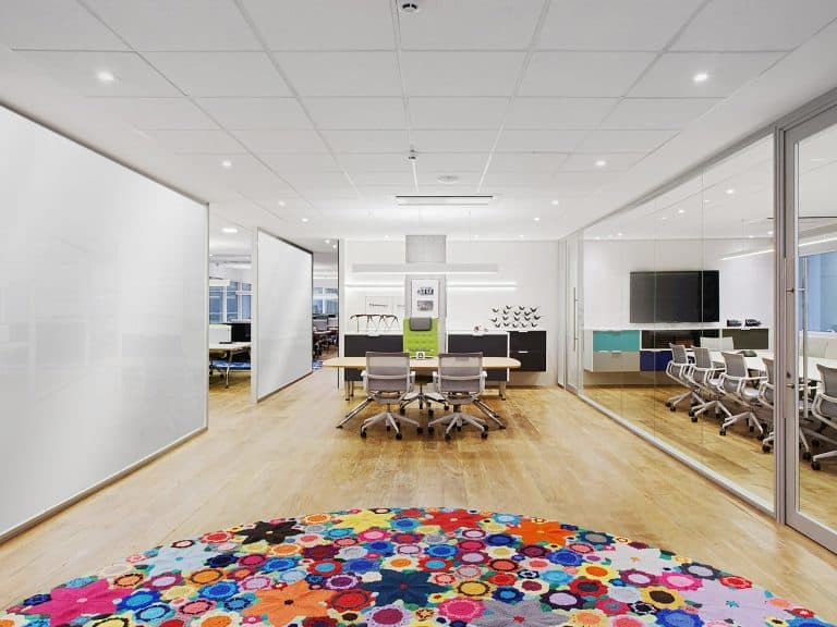 office with on off LC and colorful rug