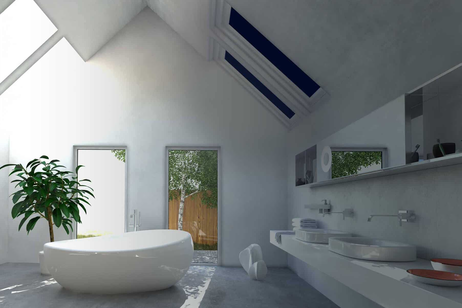 Gauzy skylight