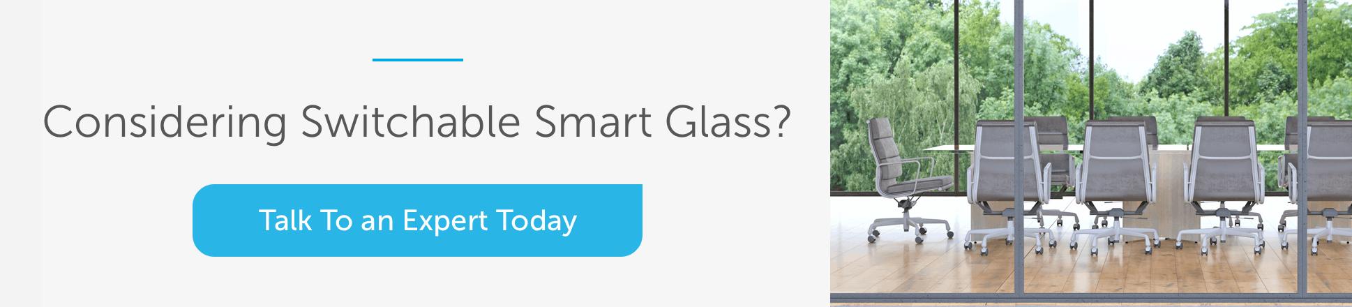 Talk to smart glass expert banner