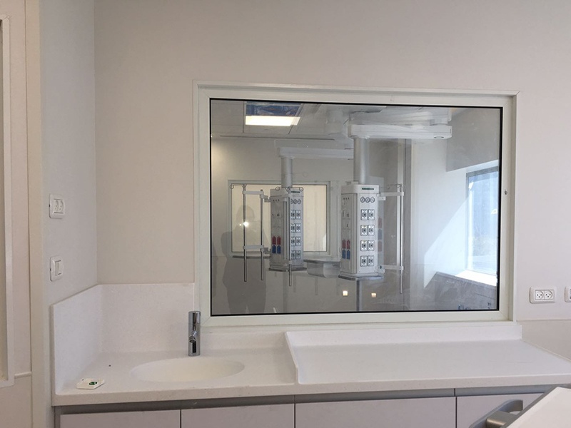 Doctor's office with smart glass on